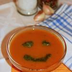 Суп-пюре морковный с соусом Песто