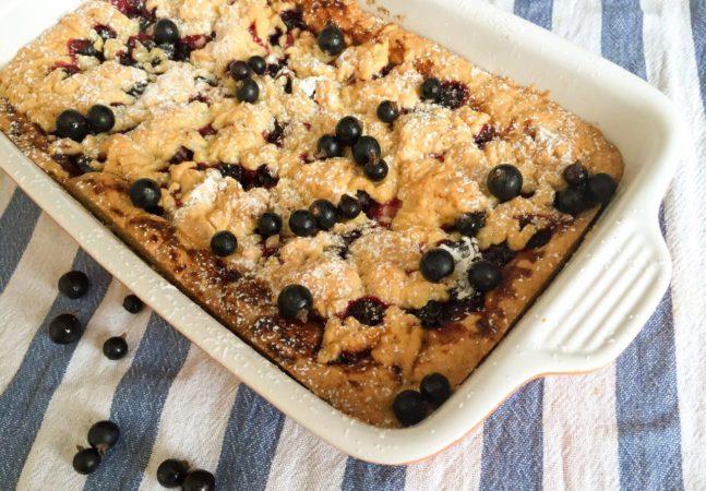 Дрожжевой пирог с замороженной черной смородиной рецепт