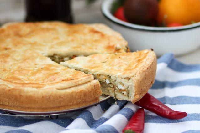 Пирог с капустой и яйцом: бездрожжевое тесто