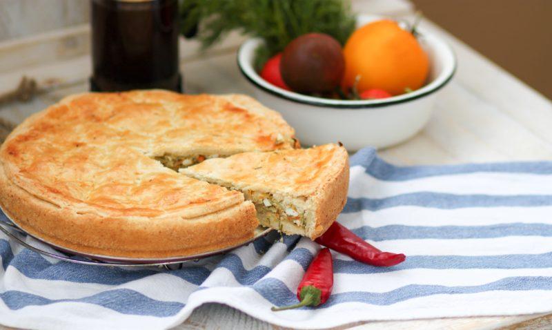 пирог бездрожжевое тесто с капустой