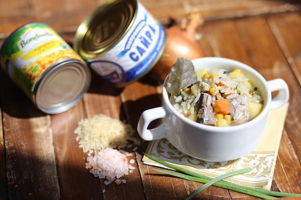 Суп из консервированной сайры: родом из детства