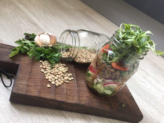 Салат с зеленой чечевицей: что взять на работу