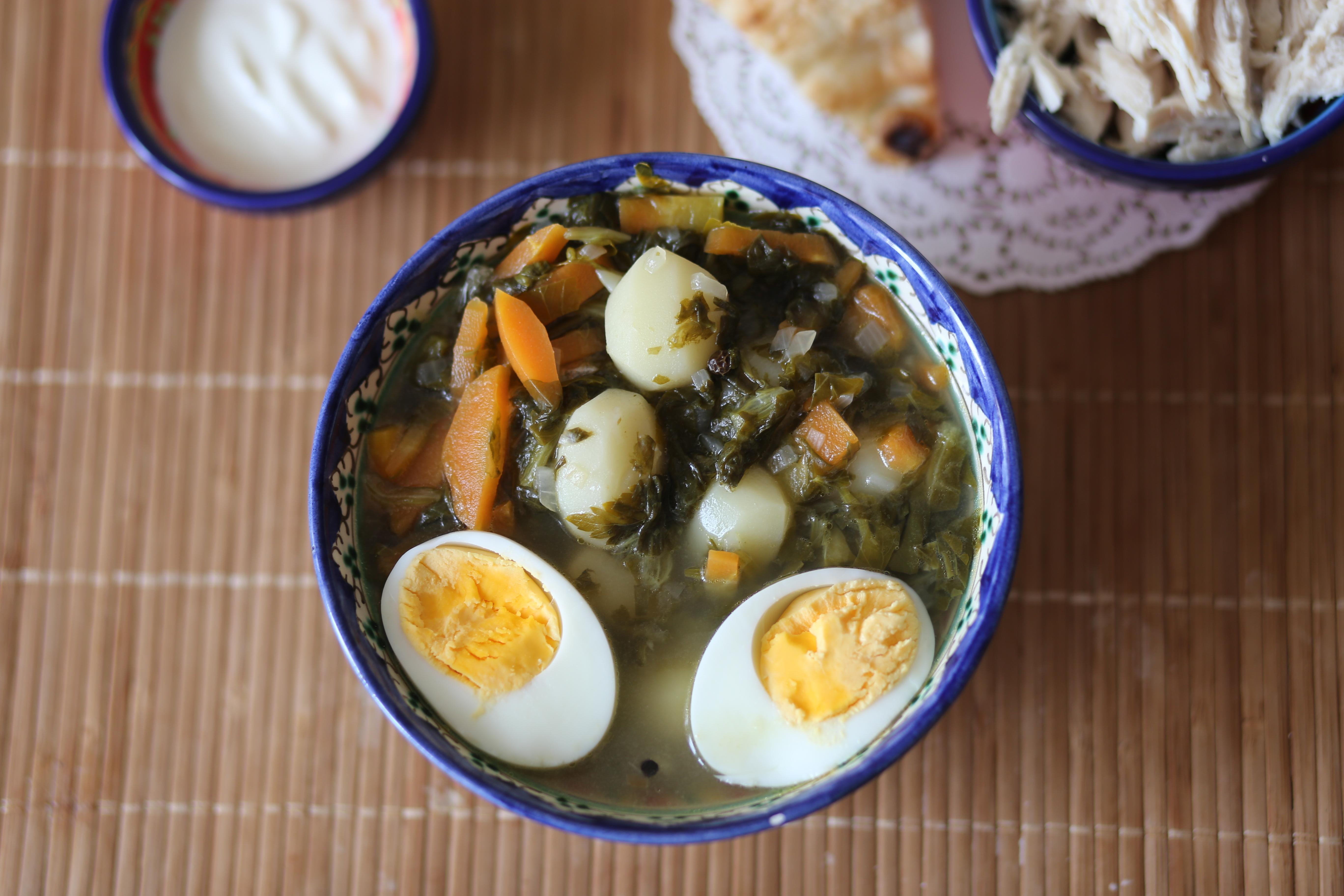 Зеленый суп с щавелем и яйцом рецепт пошагово