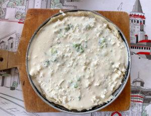 печем киш с брокколи