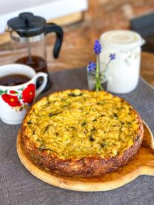 пирог из кабачков и сыра
