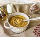 Суп-пюре из запеченных овощей и грибов